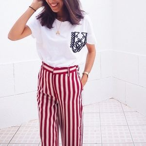 Zara Rope Applique Boxy Tee
